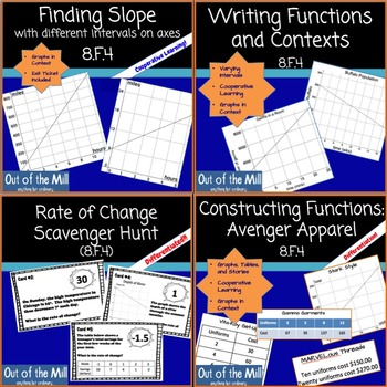 8.F.4 Analyzing Functions Cooperative Learning Bundle