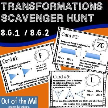 8.G.1 / 8.G.2 Transformations Scavenger Hunt