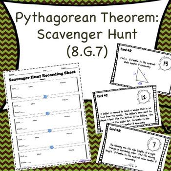 8.G.7 Pythagorean Theorem Scavenger Hunt