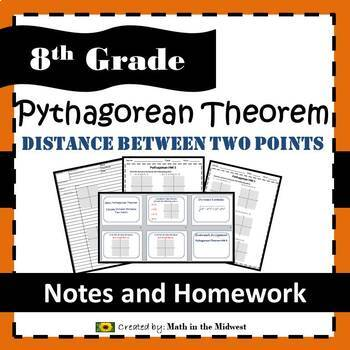 8.G.B.8 Pythagorean Theorem - Distance between two points