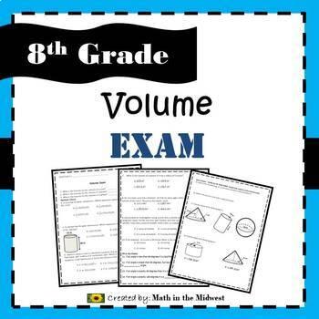 8.G.C.9 - Volume of Cylinders, Cones, & Spheres Exam