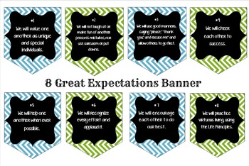 8 Great Expectations Banner for Classroom
