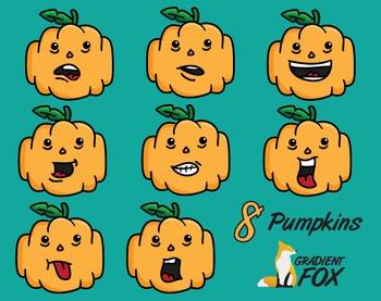 8 Halloween Pumpkin Faces