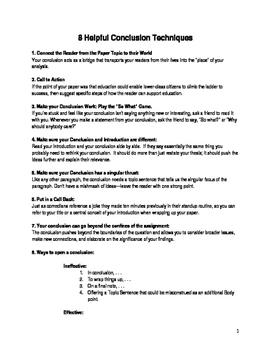 8 Helpful Conclusion Techniques