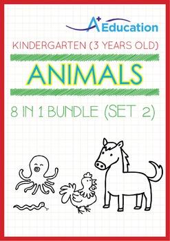 8-IN-1 BUNDLE - Animals (Set 2) - Kindergarten, K1 (3 years old)