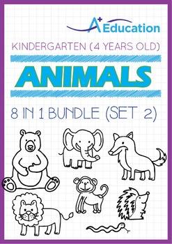 8-IN-1 BUNDLE - Animals (Set 2) - Kindergarten, K2 (4 years old)