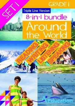 8-IN-1 BUNDLE - Around the World (Set 1) Grade 1 ('Triple-