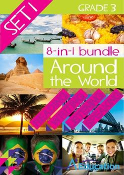 8-IN-1 BUNDLE- Around the World (Set 1) – Grade 3