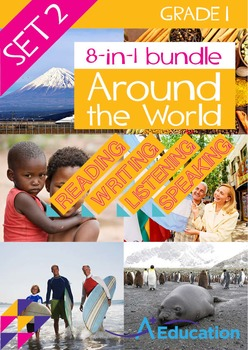 8-IN-1 BUNDLE- Around the World (Set 2) – Grade 1
