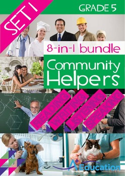 8-IN-1 BUNDLE- Community Helpers (Set 1) – Grade 5