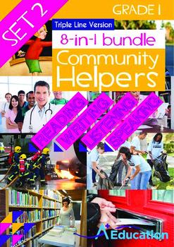 8-IN-1 BUNDLE - Community Helpers (Set 2) Grade 1 ('Triple