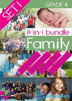 8-IN-1 BUNDLE- Family (Set 1) – Grade 4