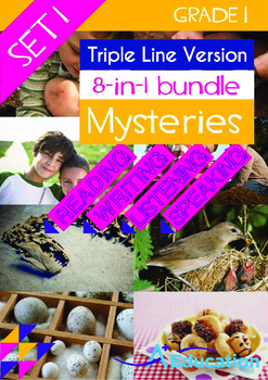 8-IN-1 BUNDLE- Mysteries (Set 1) - Grade 1 (with 'Triple-T