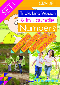 8-IN-1 BUNDLE- Numbers (Set 1) - Grade 1 (with 'Triple-Tra