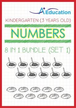 8-IN-1 BUNDLE - Numbers (Set 1) - Kindergarten, K1 (3 years old)