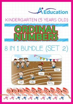 8-IN-1 BUNDLE - Ordinal Numbers (Set 2) - Kindergarten, K3