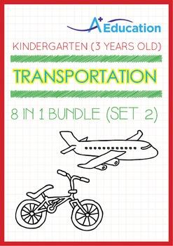 8-IN-1 BUNDLE - Transportation (Set 2) - Kindergarten, K1