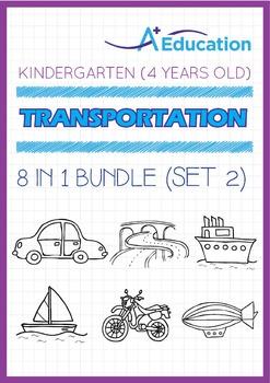 8-IN-1 BUNDLE - Transportation (Set 2) - Kindergarten, K2