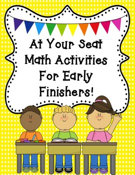 Take It To Your Seat Math Activities {For Early Finishers}
