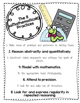 8 Mathematical Practices Poster