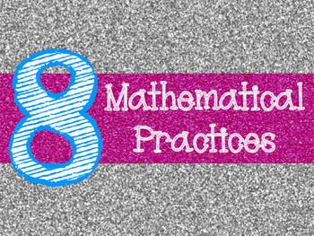 8 Mathematical Practices Silver and Pink Glitter (Common Core)