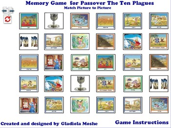 8 Memory Game for Passover The Ten Plagues photo to photo