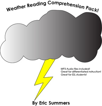 8 Middle School Weather Reading Passages for reading compr