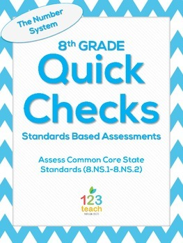 8.NS.1 and 8.NS.2 Common Core Quick Check Assessments