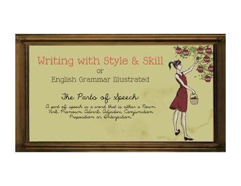 8 Parts of Speech Illustrations