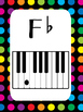 8 Piano Key Flat Notes Posters/Anchor Charts for your Classroom.