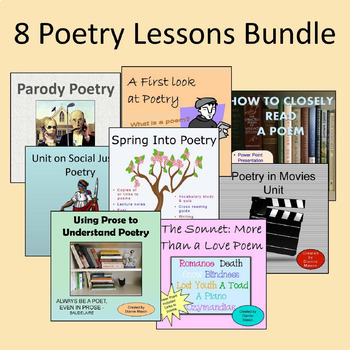 8 Poetry Lessons Bundle