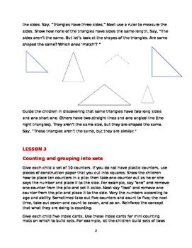 8+ Preschool and Kindergarten Math Lessons Bundle #1