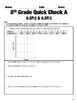 8.SP.1-8.SP.4 Statistics Common Core Quick Check Mini Assessments