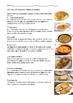 8 SPANISH FOOD READINGS / LECTURAS