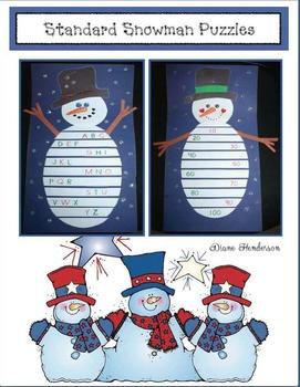 "8 ""Standard"" Snowman Puzzles"
