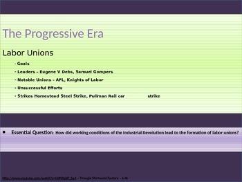 8. The Progressive Era - Unit Presentation
