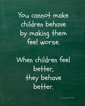 8 x 10  Classroom Management Poster Motivation Character E