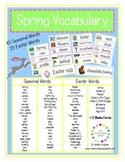 FREE 80 Spring Vocabulary Cards