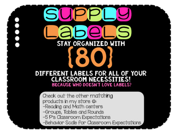 80 Supply Labels for the Classroom!