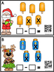 800 Follower FREEBIE QR Code Subtract The Room (Santa On V