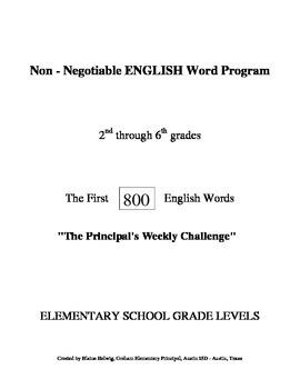 800 Non-Negotiable English Word Writing Program (FREE)