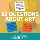82 Questions to Ask About Art - Printable Index Cards and