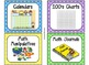 84 Math Manipulative Labels {Bright Polka Dots}