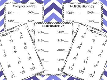 84 Multiplication Worksheets. Numbers 1-12. Preschool-Kind