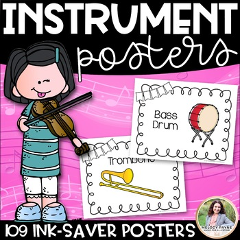 Musical Instrument Posters {109 8.5×11 Ink-Saver Posters}
