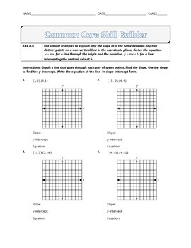 8.EE.B.6 - Common Core Math Skill Builder