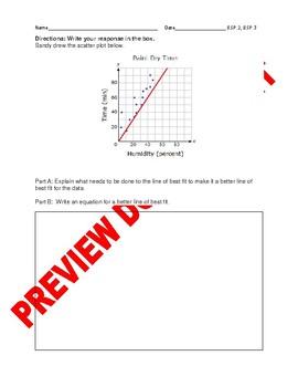 8TH Grade CCSS Best-Fit Linear Models Editable Assessment