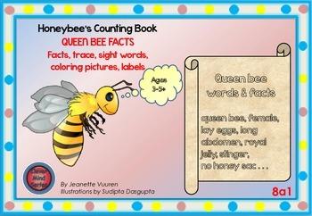 HONEYBEE FACTS:QUEEN BEE-DIFFERENTIATED WORKSHEETS-SET 1-L