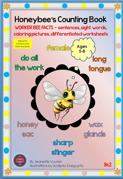 HONEYBEE FACTS:WORKER BEE-DIFFERENTIATED WORKSHEETS-PORTRAIT-8c2