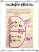 Eighth Grade & Algebra Interactive Notebook Unit- Linear Systems